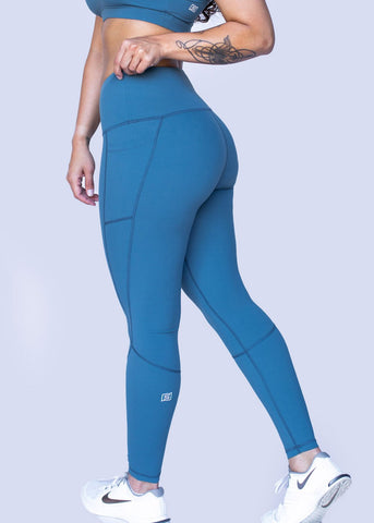 Feed Me Fight Me SAS High-Waisted Leggings (Teal) - 9 for 9