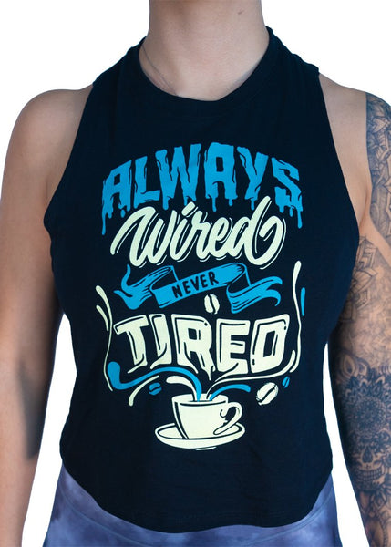 Feed Me Fight Me Always Wired Never Tired Tank (Blue) - 9 for 9