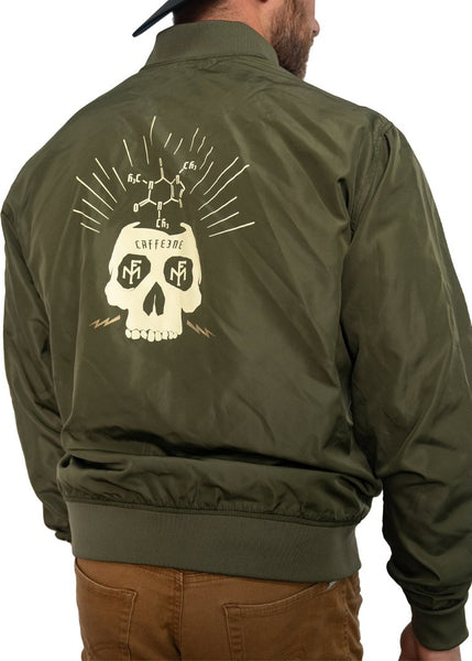 Feed Me Fight Me Brainstorm Bomber Jacket (Army Green) - 9 for 9