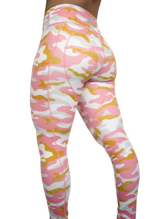 Feed Me Fight Me Candy Land Camo Mid-Rise Leggings