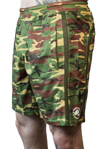 Feed Me Fight Me Men's Camo Endurance Shorts - 9 for 9