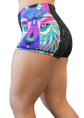 Feed Me Fight Me Women's HalfWolf Shorts