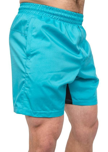 Feed Me Fight Me Men's Everyday Shorts (Electric Blue) - 9 for 9