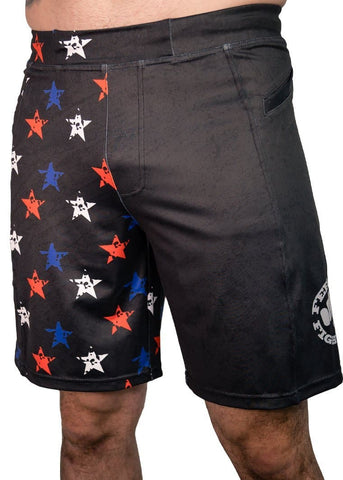 Feed Me Fight Me Men's Red, White & Freedom Shorts - 9 for 9