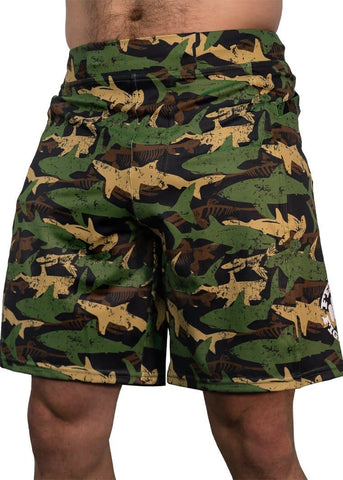 Feed Me Fight Me Men's Shark-o-flage Shorts - 9 for 9