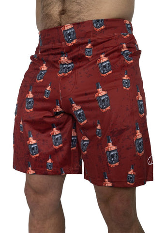 Feed Me Fight Me Men's Whiskey Skull Shorts - 9 for 9