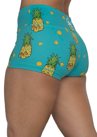 Feed Me Fight Me Women's Pineapple Skull Shorts