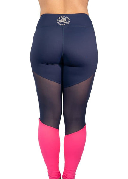 "Feed Me Fight Me Thigh ""Hi"" Mid-Rise Leggings - Punch Berry Pink - 9 for 9"