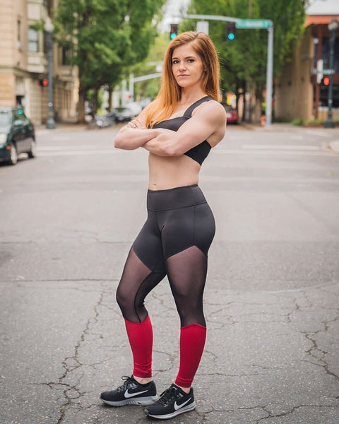 "Feed Me Fight Me Thigh ""Hi"" Mid-Rise Leggings - Don't Mesh With Me - 9 for 9"