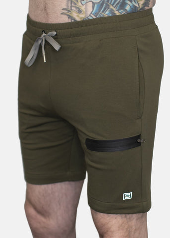 Feed Me Fight Me Men's Rinse & Repeat Shorts (Olive) - 9 for 9