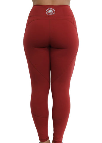 Feed Me Fight Me SAS High-Waisted Leggings (Cardinal Red) - 9 for 9
