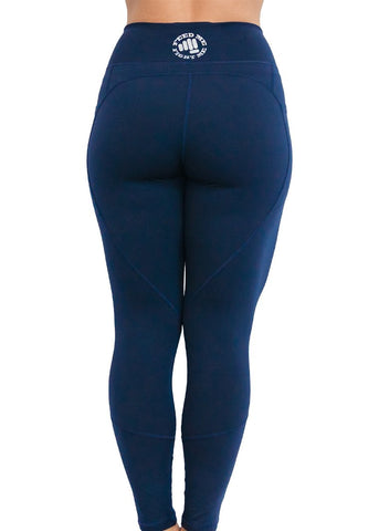 Feed Me Fight Me SAS High-Waisted Leggings (Royal Blue) - 9 for 9