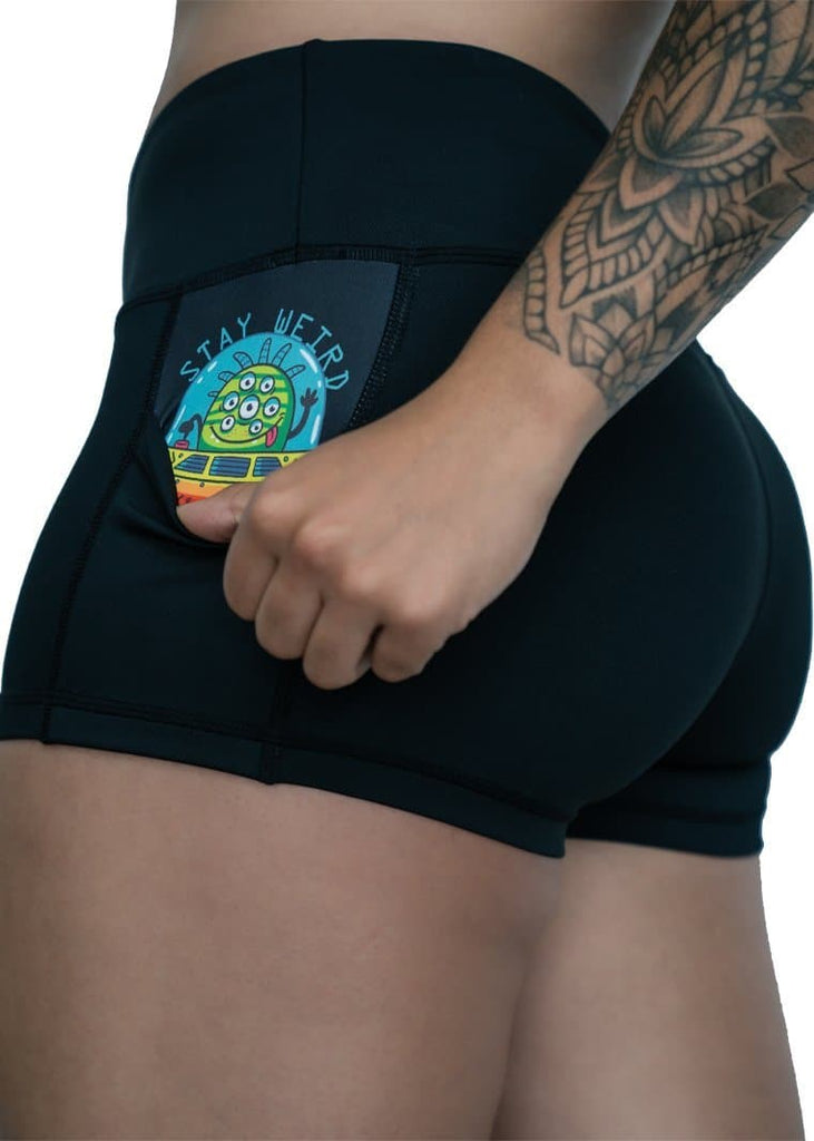 "Feed Me Fight Me Women's ""See Them Alien"" Shorts - 9 for 9"