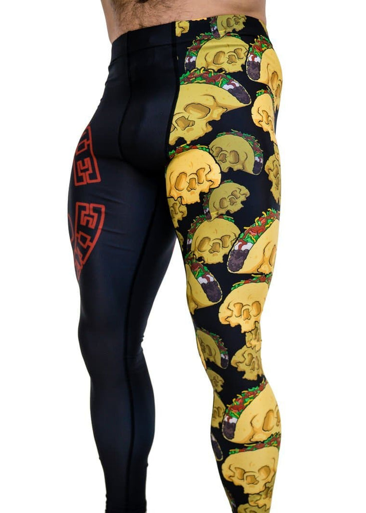 Feed Me Fight Me Men's Taco Skull Endurance Compressions - 9 for 9