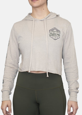 Feed Me Fight Me Women's Trek Lightweight Cropped Hoodie - 9 for 9