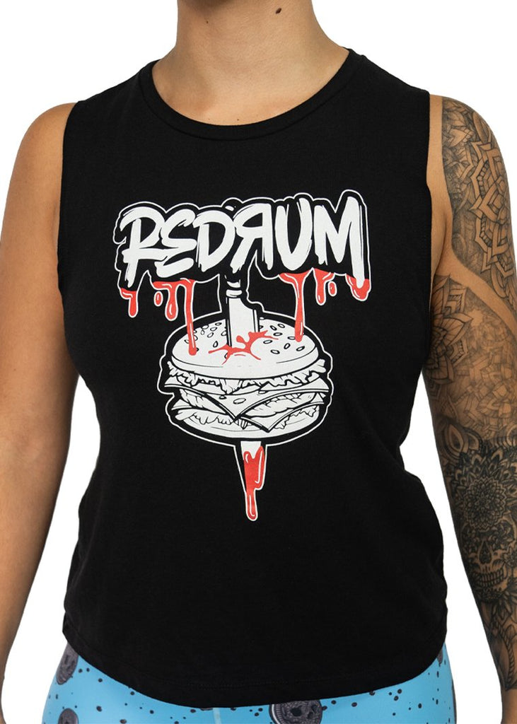 Feed Me Fight Me Women's Redrum Muscle Tank - 9 for 9