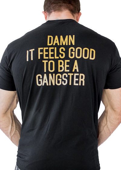 Feed Me Fight Me Men's Gangster T-shirt (Gold) - 9 for 9