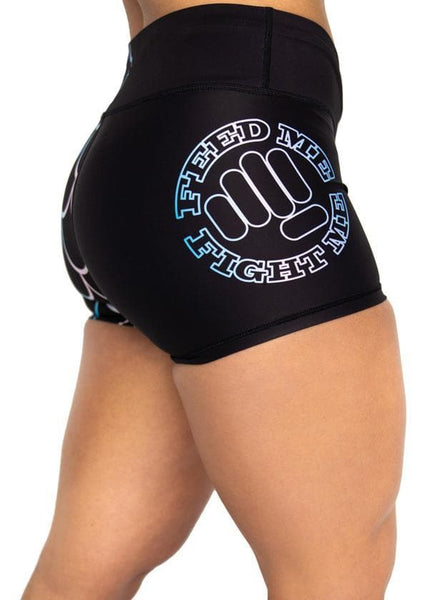 Feed Me Fight Me Women's Phantom Mermaid Endurance Shorts - 9 for 9