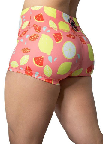 Feed Me Fight Me Women's Pink Lemonade Shorts - 9 for 9