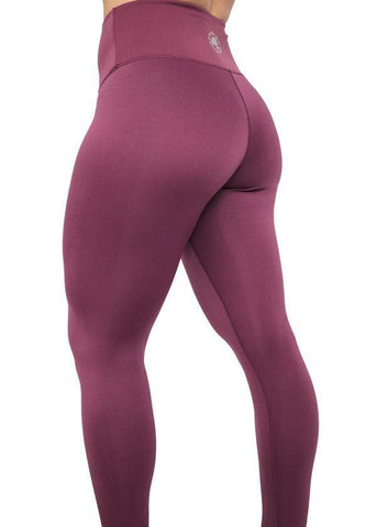 Feed Me Fight Me All Day, Everyday High-Waisted Leggings (Plum)