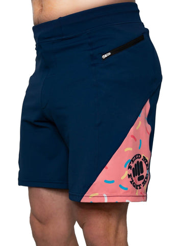 Feed Me Fight Me Men's Donut Sprinkle Inset Shorts - 9 for 9