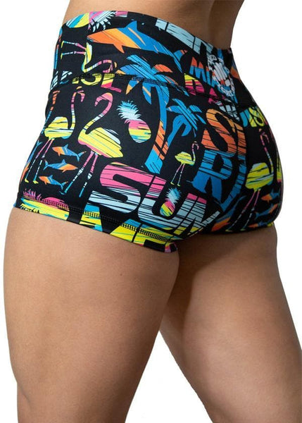 Feed Me Fight Me Women's Tequila Sunrise Shorts