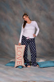 SN Navy Poka Dot Sleeper