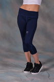 The FIT Capri Navy Leggings