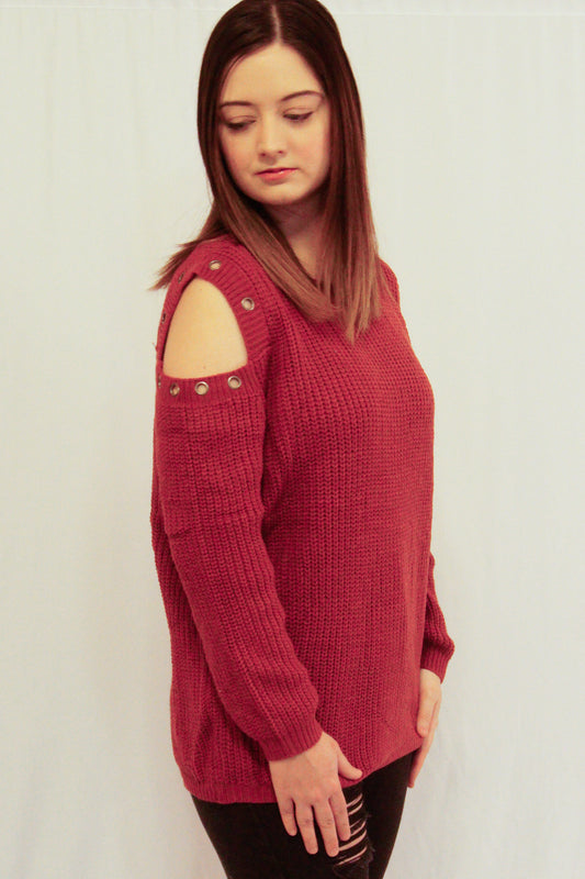 "Right side view of Sweater called ""Rock On Sweater"""