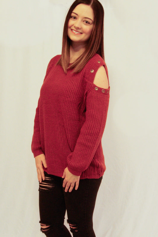 "Left side view of Sweater called ""Rock On Sweater"""