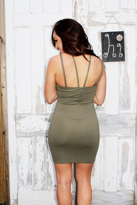 "Back view of dress called ""Let's Party Dress"""