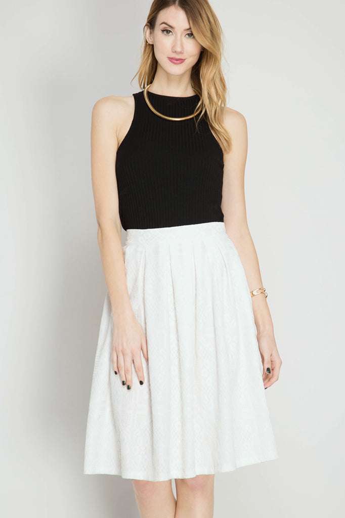 Perfectly Embossed Midi Skirt