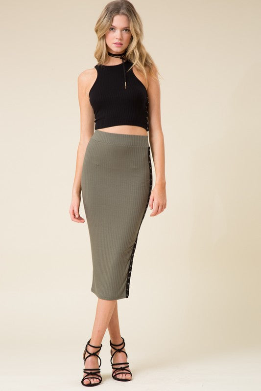 "Front view of skirt called ""One Call Away Skirt"""