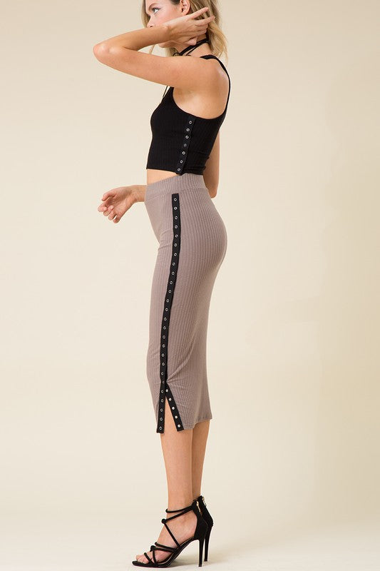 "Side view of skirt called ""One Call Away Skirt"""