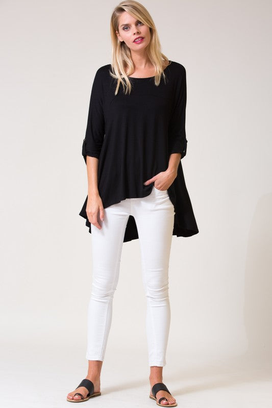 Jet Black Basic Top