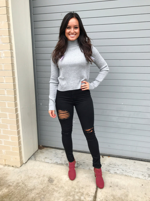 Girly Grey Sweater