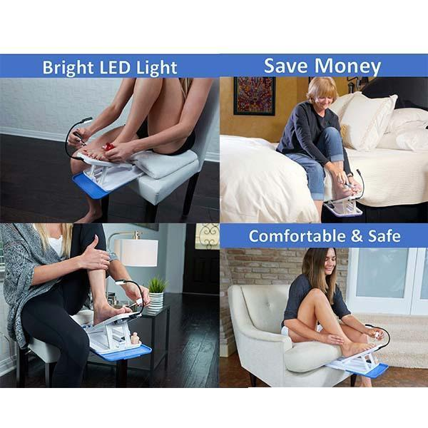 Pedicure Assistant Stand With LED Light