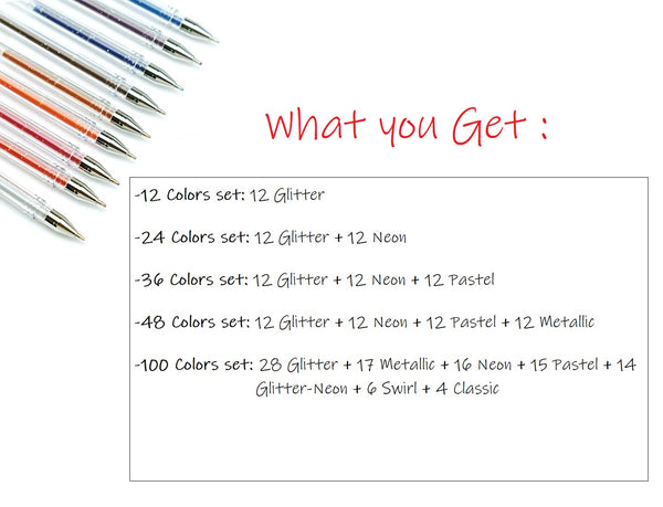 Premium Quality - Gel Pens for Adult Coloring Books