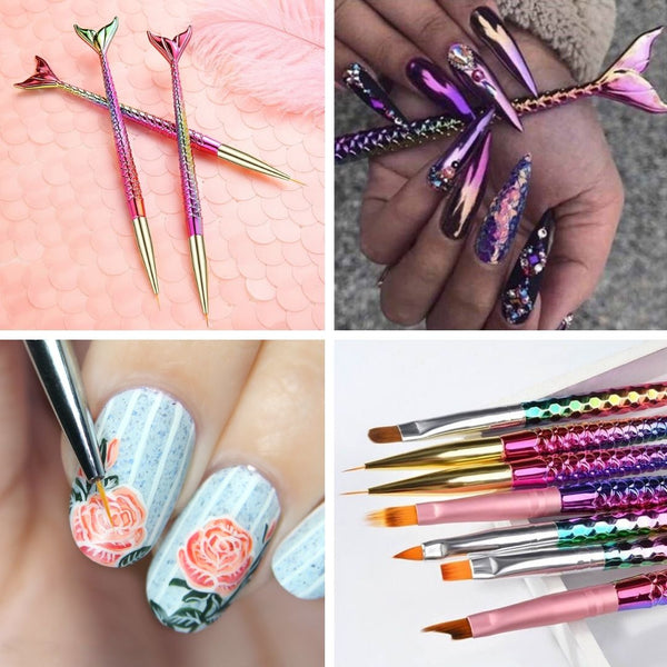 Mermaid Nails Art Brushes