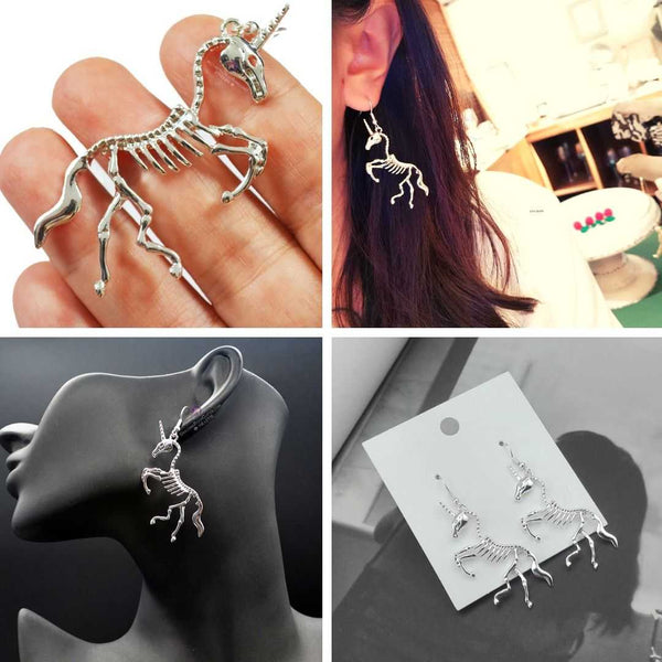 Uniskull™ - Skeleton Unicorn Earrings