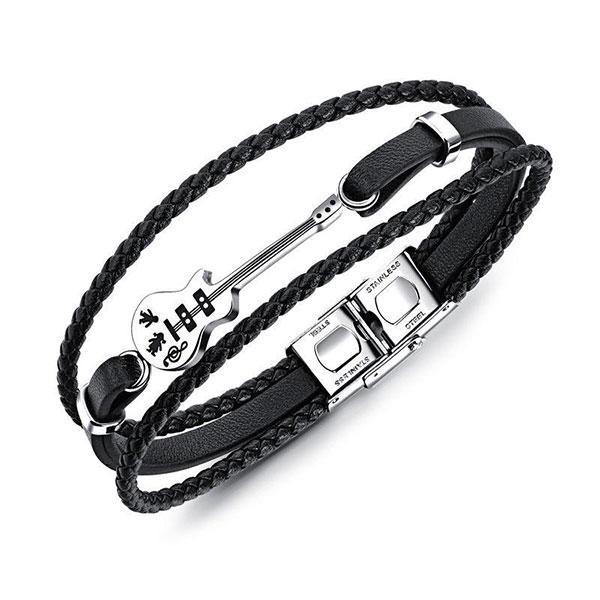 Premium Multilayer Leather Guitar Bracelet