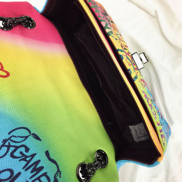 """Art Ish"" Colorful graffiti letters tote shoulder bag"