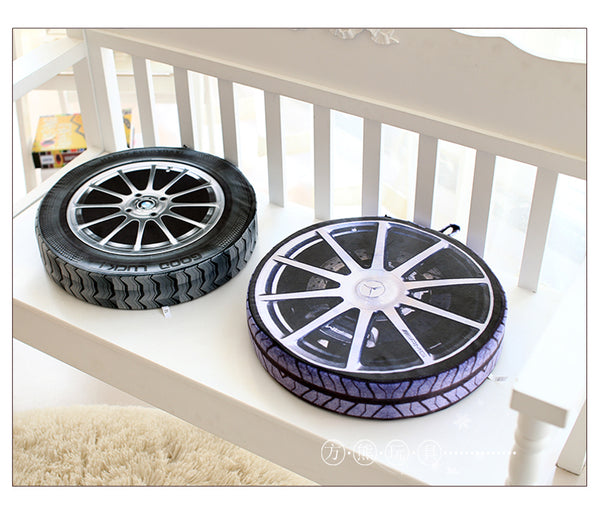 3D Car tires pillows - WITH filling