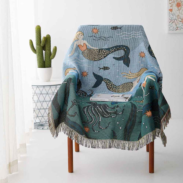 VINTAGE STYLE MERMAID SOFA COVER
