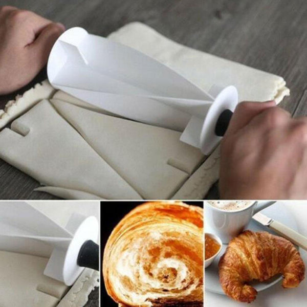 Multi-function Bread Slicer Set :Blade Roller + Croissant Cutter