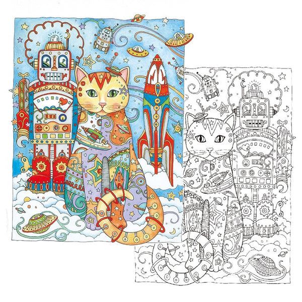 24 Pages Creative Cats Coloring Book