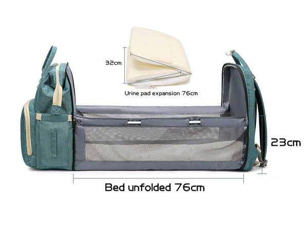 Baby Bed&Bag™ 2-in-1 Portable Bassinet and Diaper Bag Backpack