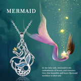 SeaQueen - 925 Sterling Silver Mermaid Necklace
