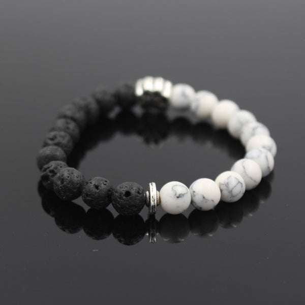 Dog Footprint Volcanic Stone Energy Bracelet