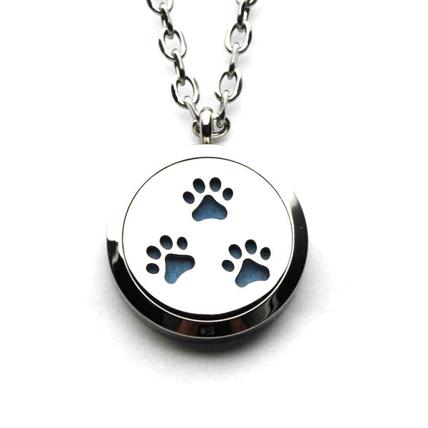 Stainless Steel Essential Oil Diffuser Necklace for Dog Fans